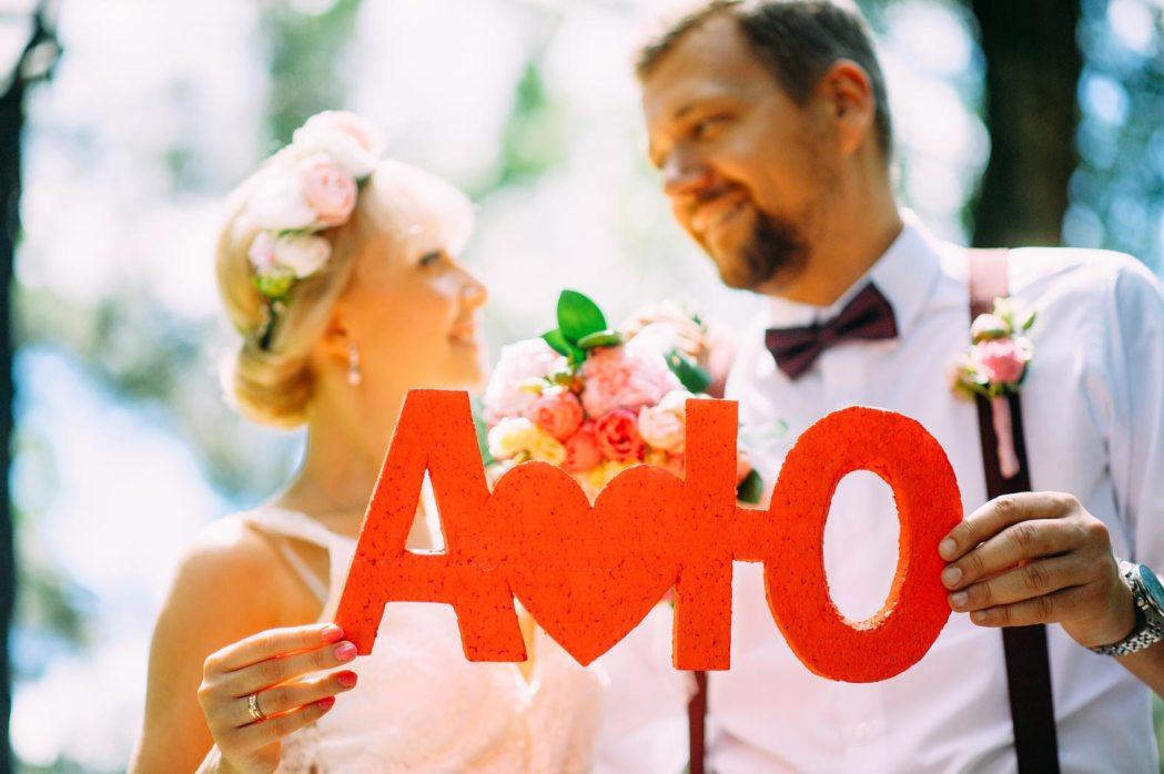 Аксессуары для свадебной фотосессии буквы