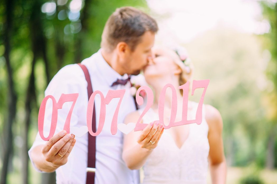 Аксессуары для свадебной фотосессии цифры