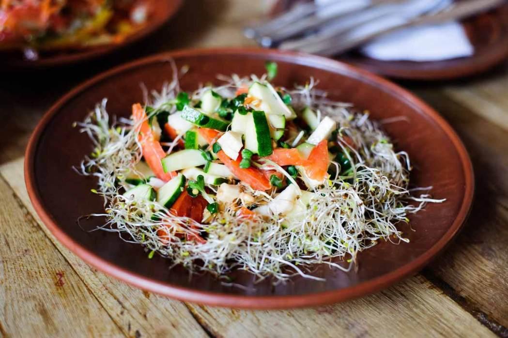 Веганский салат