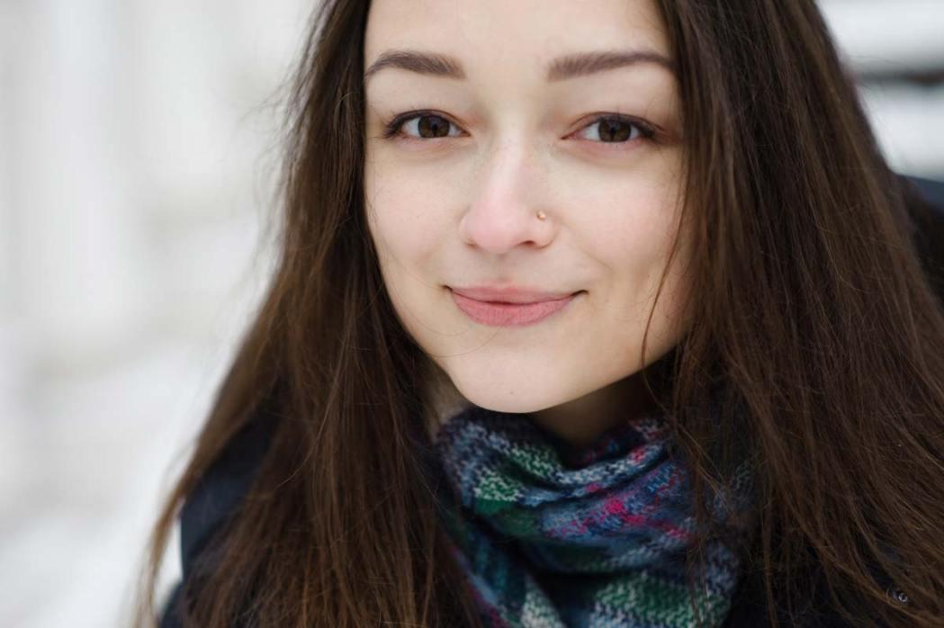 Фотосессия в Киеве зимой фотография девушки