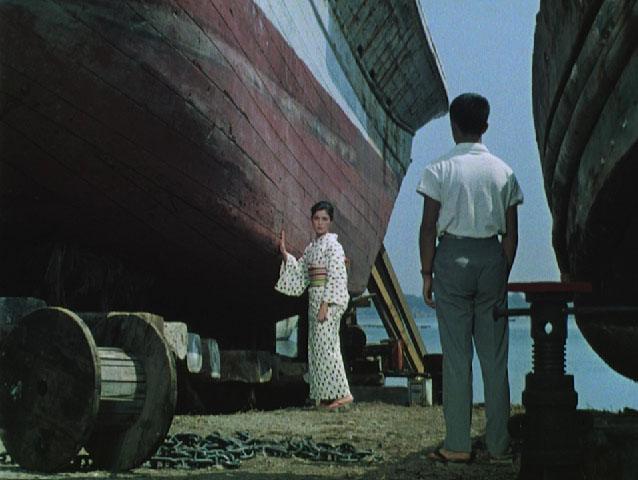 """Сцена из фильма """"Плавучие травы"""", 1959, режиссер Ясудзиро Одзу"""