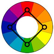 Квадратный способ сочетания цветов