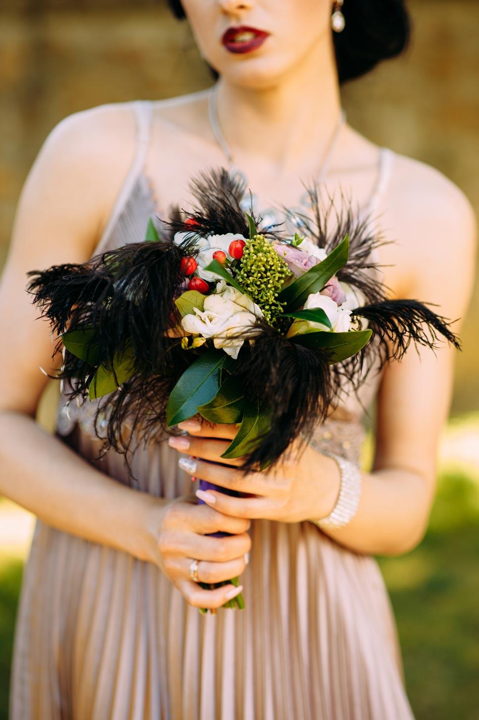 Свадебный букет в ретро стиле