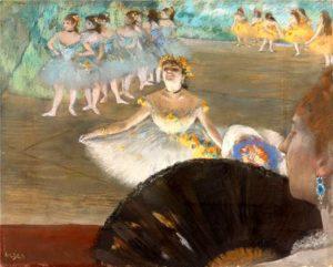 Танцовщица с букетом Эдгар Дега