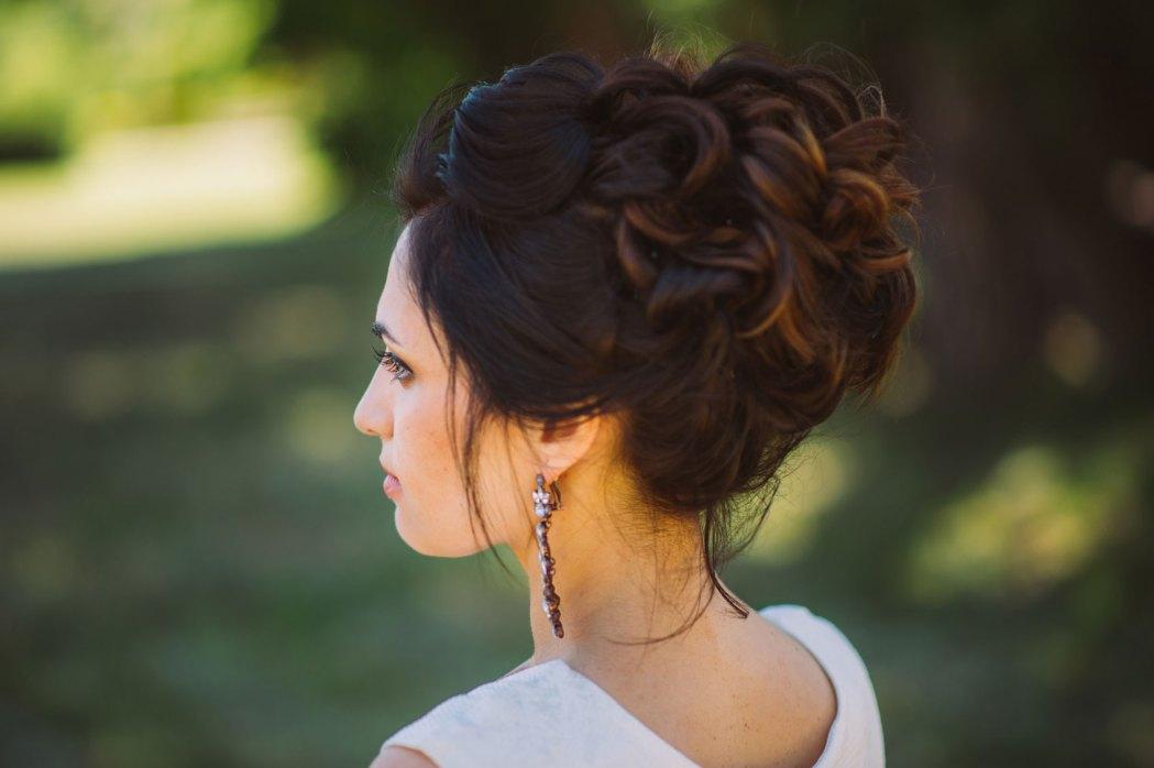 wedding photography bride hair