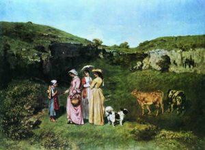 Картина Курбе деревенские барышни