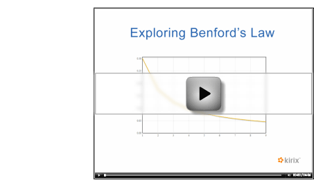 Play Benford's Law Video