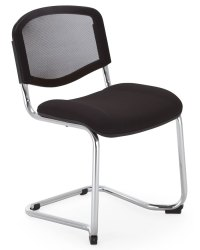 """""""ISO Ergo Mesh"""" Cantilever Visitor Chair 24H"""