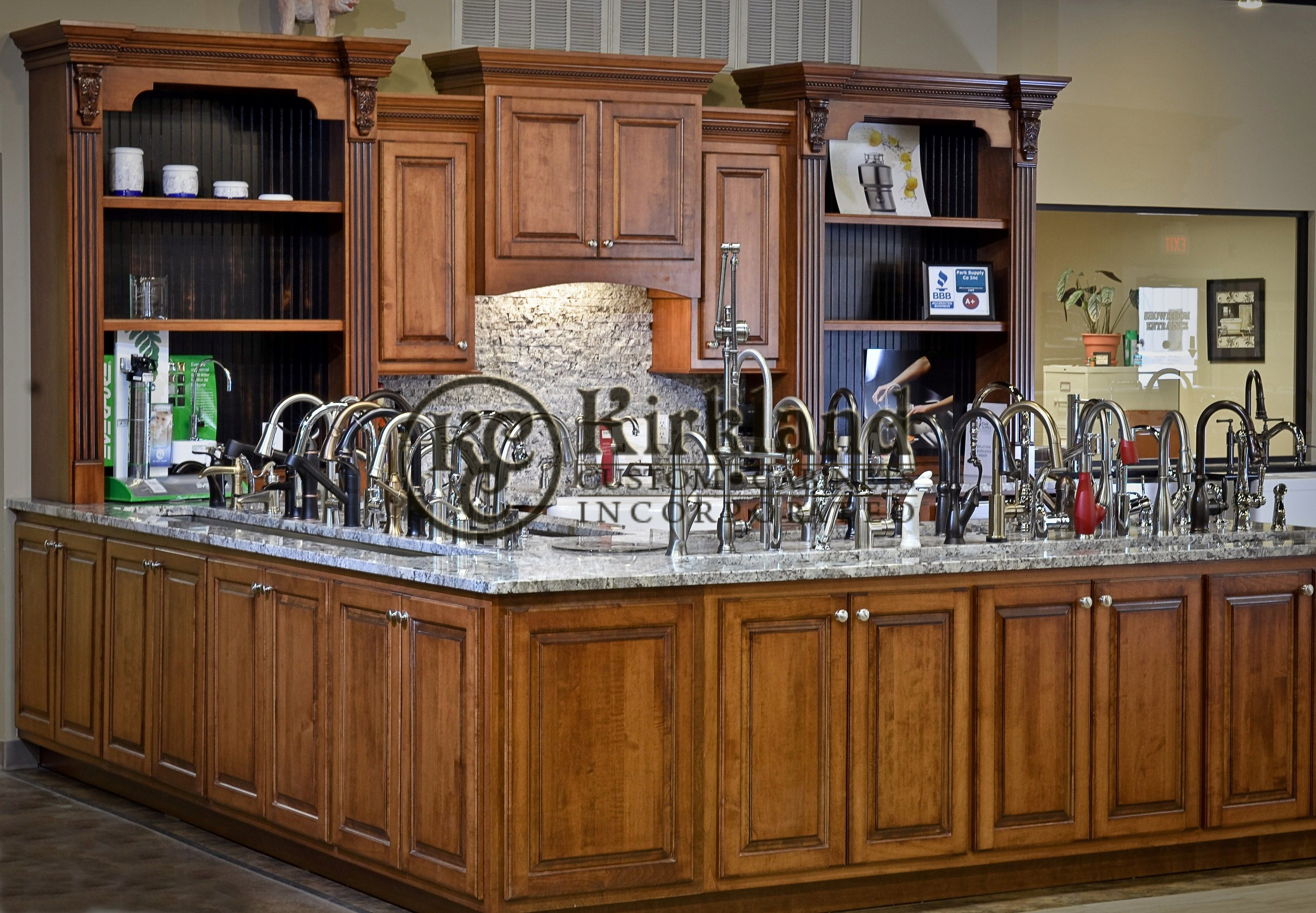 Commercial Kitchen Cabinets_Maple Wood with Umber Stain