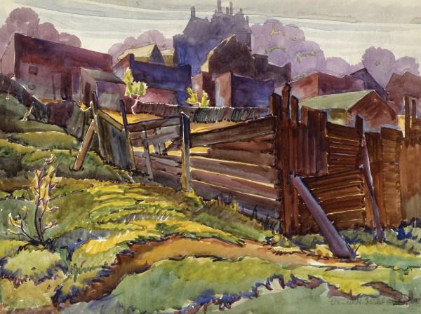 Vance Kirkland Painting Central City