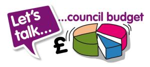 council budget simulator - Let's talk council budget graphic