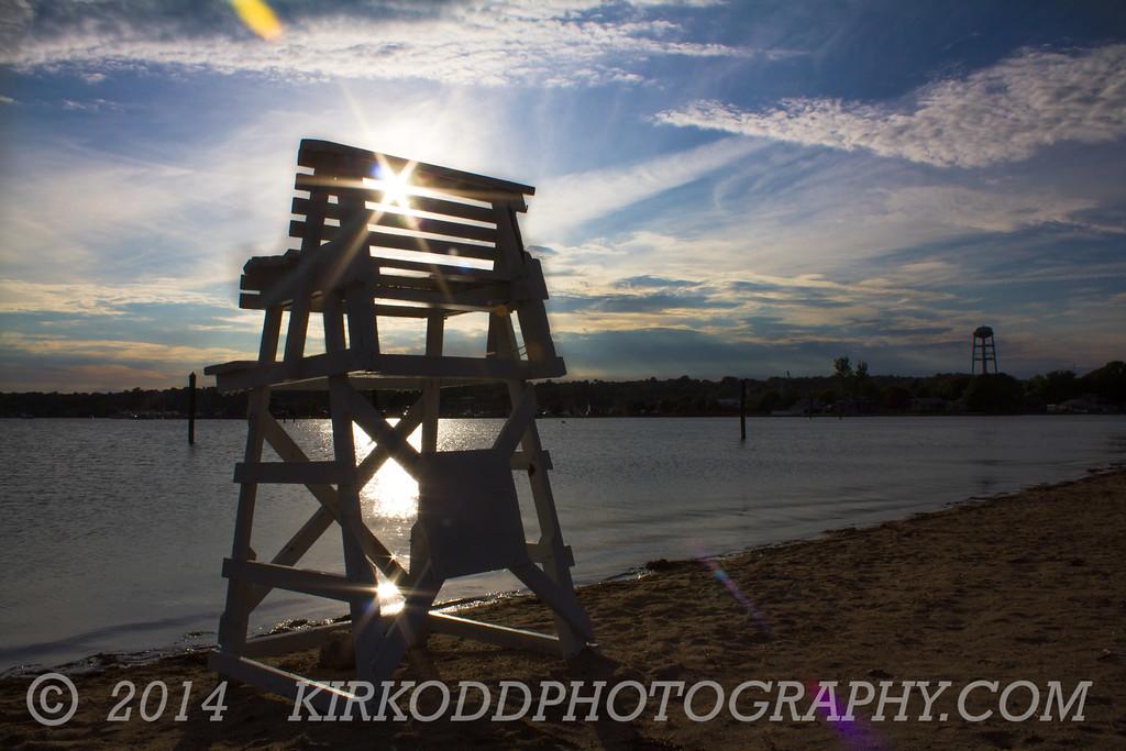 Lifeguard Chair on Williams Beach