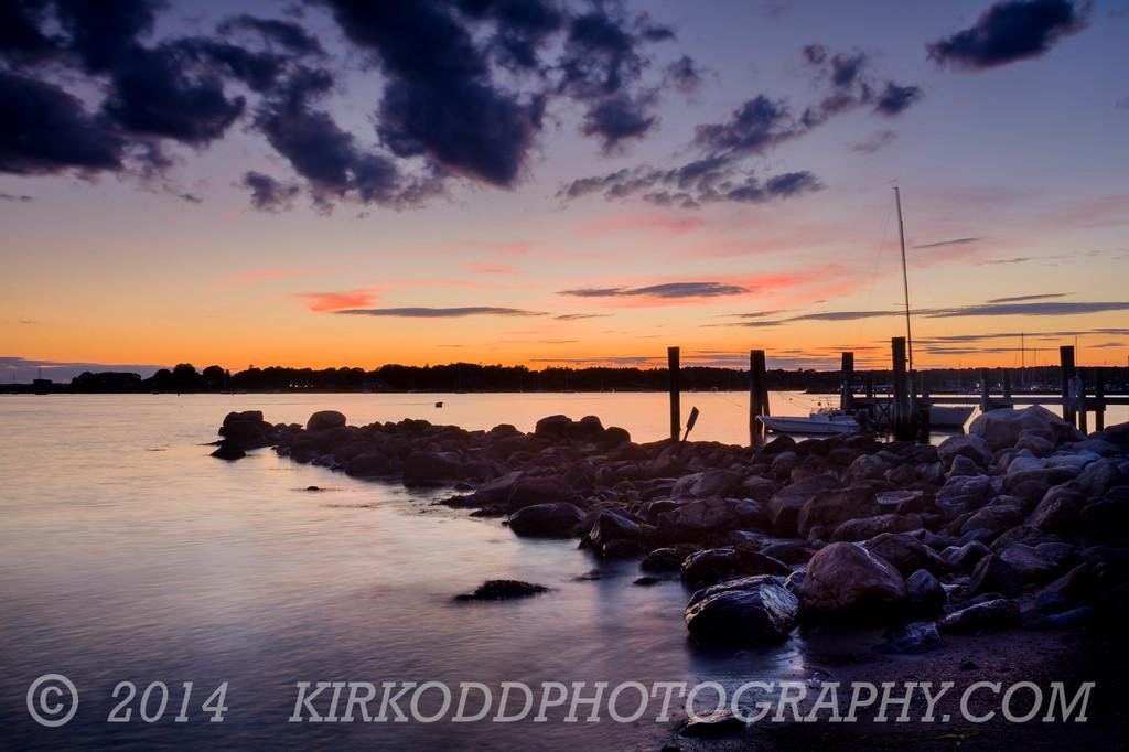 Sunset at Stonington Point, CT