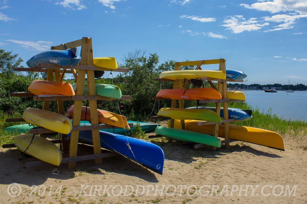Kayaks on Williams Beach