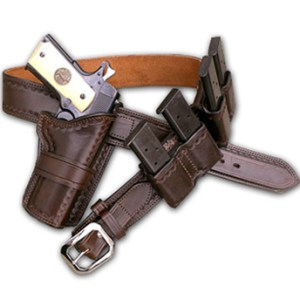 Kirkpatrick Leather Wild bunch Western cowboy holster in brown