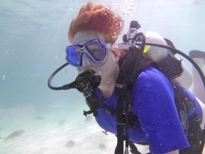 Kathy Dowsett, Owner and Operator of Kirk Scuba Gear