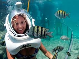Helmet Diving in the Caribbean