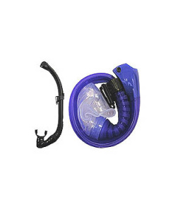 Trek Folding Roll Up Compact Semi Dry Snorkel with Purge available @ Kirk Scuba Gear