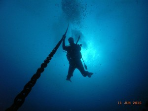 Diver and Anchor Line