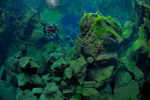 Continental Underwater Rift in Iceland