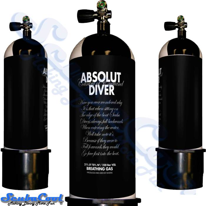 2700 Scubacool Scuba Dive Gas Cylinder Tank Cover NOT neoprene