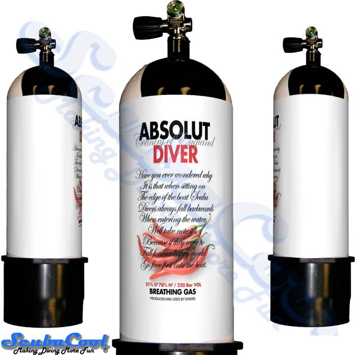 2706 Scubacool Scuba Dive Gas Cylinder Tank Cover NOT neoprene