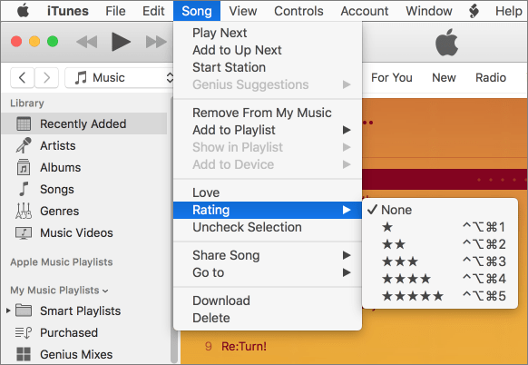 Kirkville - Rate iTunes Tracks with Keyboard Shortcuts