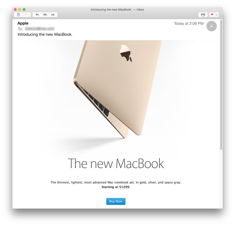 Apple macbook email
