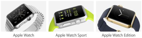 Apple watch three models