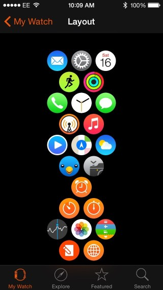 Applewatch home screen