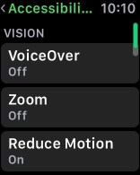 Applewatch reduce motion
