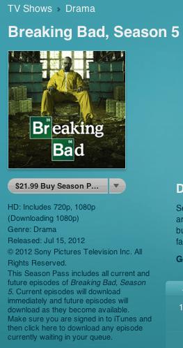Kirkville - Apple Refunds Purchasers of Split Breaking Bad Season 5