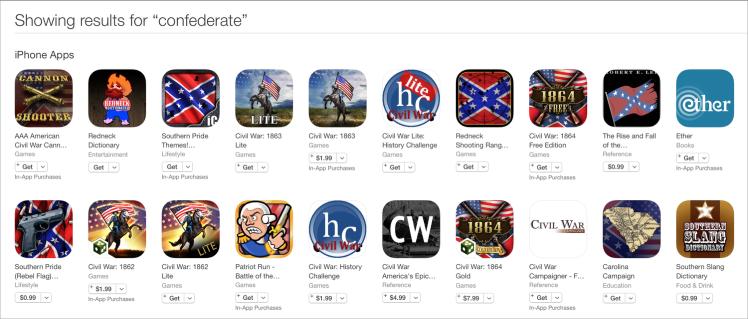 Confederate app store