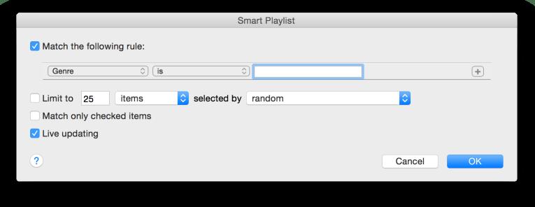 Genre playlist