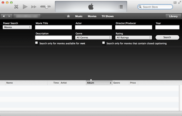 iTunes Power Search