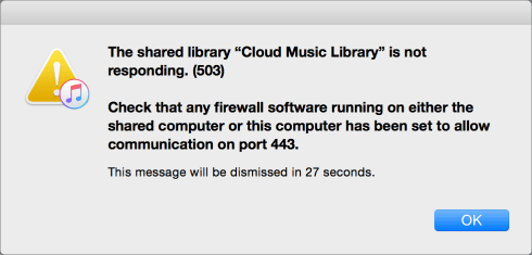 Icloud music library down