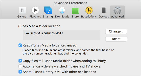 Itunes media folder location