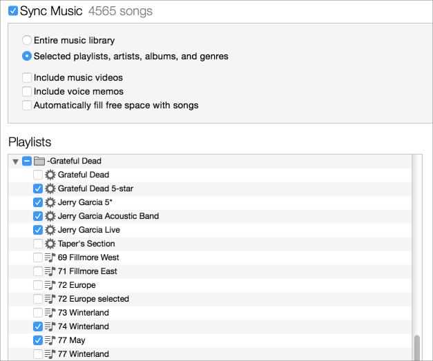 Itunes sync playlists
