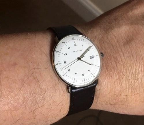 Max bill on wrist