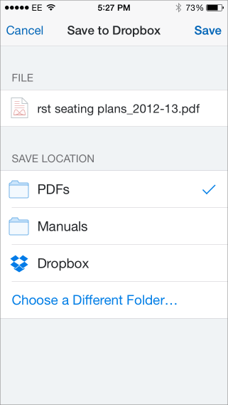 Save pdf to dropbox3