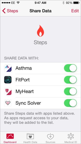 Share health data