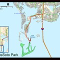 Map of fort desoto park fort desoto beach map map of fort desoto