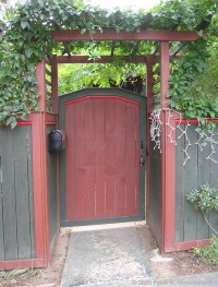 Wooden Gate Pergola PDF Woodworking