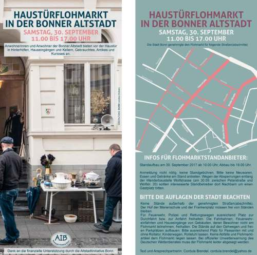 Flyer Flohmarkt September 2017