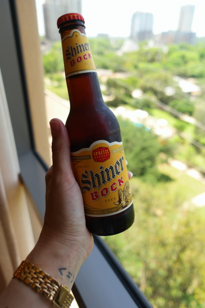 Had to start with a Shiner Bock in my room. Iconic Texas! And even though you can now find them almost anywhere, I only drink them when I am in TX!