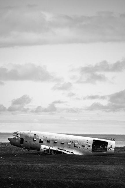 Iceland Plane Wreck Print