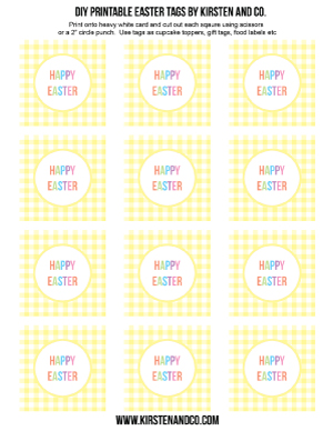 Diy easter gift tags a free printable diy easter gift tags negle Gallery