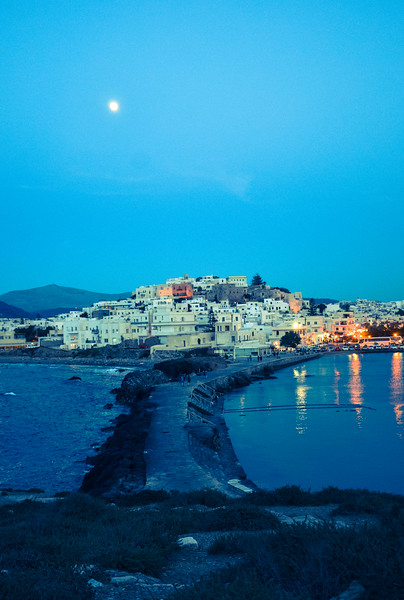 Old Town on Island of Naxos, Greece