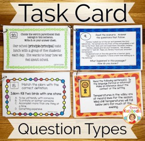The versatility of task cards lies is partly due to the varying question types and requirements assigned. Differentiating the types of questions for different learners is easy with task cards.