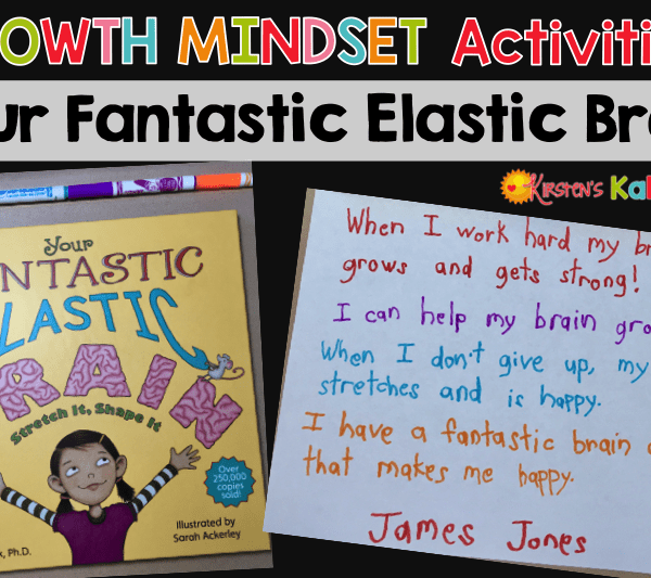 Are you teaching your students about growth mindset? Your Fantastic Elastic Brain is a perfect picture book for teaching growth mindset! These activities are easy to use and require no preparation!